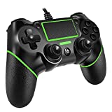 Covanm Wired Controller für PS4, Game Controller für PS4/Pro/Slim/PC, Gamepad Joystick with Rechargable Remote Six-Axis Dual Vibration Shock and Anti-Rutsch-Griff, 2M Kabel