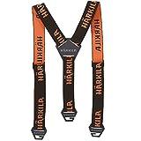 Härkila breite Hosenträger für Herren Orange Tech | Hosenträger für Jäger und Wanderer | Hosenträger stark für Männer (Brown/Orange Blaze)