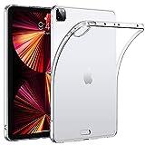 HBorna Silikon Hülle für iPad Pro 11 Zoll 3rd Generation 2021 Cover - Durchsichtige Silikonhülle TPU Back Cover Schutzhülle für das Neue iPad Pro 11' [Unterstützt Apple Pencil Laden], Transparent
