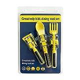 Kids Dinning Tool Set Children Cutlery Car Tableware 3 Piece Set,Tractor Utensils,Construction Themed Dinnerware