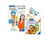 Ravensburger tiptoi Set: Pocket Wissen | Tiere im Garten (Kinderbuch) + 00801 Der Stift - mit Aufnahmefunktion + 1x Create Sticker