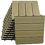 Top-Multi WPC Holz Fliese profiliert 30x30cm BRAUN 2 m²