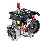 YOUX Motor Bausatz Metall, 36cc Einzylinder-Zweitakt 3.51 HP-Vierpunkt-Easy-to-Start Fixierte Motor für 1/5 Rovan LT LOSI RC Auto, Hochwertiger Modell-Bausatz
