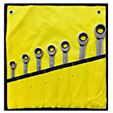 MLOPPTE Schraubenschlüssel,8-19mm Schraubenschlüsselsatz Ratschenkasten-KombiSchraubenschlüssel für AutoreparaturringSchraubenschlüssel Handwerkzeuge Ein Satz