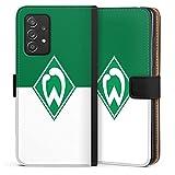 DeinDesign Klapphülle kompatibel mit Samsung Galaxy A52 5G Handyhülle aus Leder schwarz Flip Case Wappen SV Werder Bremen Logo