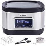 ONVAYA® Sous Vide Garer   Vakuumgarer für die schonende Zubereitung von Fisch, Fleisch & Gemüse   mit Warmhaltefunktion   8,5 Liter Fassungsvermögen   E