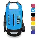arteesol Dry Bag - 5L/10L /20L /30L wasserdichte Packsack/Trockentasche, Verstellbarer Schultergurt Inklusive, Geeignet für Kajak-, Boot-, Kanufahren/Angeln/Rafting/Schwimmen (Himmelblau, 10L)