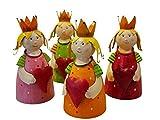 Hochwertige Zaunhocker im Sparset – Pfostenhocker/Zaunfigur Metall – Gartendekoration Zaungucker – Deko Tierfiguren/Gartenfiguren (Prinzessinnen - 4er Set)