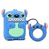 Silikon-Schutzhülle für Apple Airpods 1 und 2 süße Cartoon-Tiere Stitch