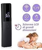 AGM Infrarot-Thermometer, digital, ohne Kontakt, mit LED-Display, Medizinisches Fieberthermometer für Babys, Kinder, Erw