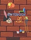 Notebook For Free People: Freedom essay, graffiti book, composition notebook, creative notebook for kids teenage kids boys, architect, art student