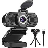 LarmTek Full Hd Webcam 1080p Videokamera mit Webcam Abdeckung,USB Webcam mit Eingebautes Mikrofon,Mini Plug und Play für Desktop, Notebook,Pc,Ideal für Konferenzen,Live Ubertragungen und V
