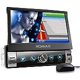 XOMAX XM-VN764 Autoradio mit Mirrorlink, GPS Navigation, Navi Software, Bluetooth Freisprecheinrichtung, 7 Zoll / 18cm Touchscreen Bildschirm, RDS, USB, SD, AUX, 1 DIN