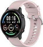 Gransho Silikon Uhrenarmband kompatibel mit Xiaomi Haylou RT LS05S / Mi Watch Sport/Mi Watch Color, mit Schnellverschluss (Pattern 2)