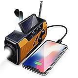 Maintainhealth Tragbares Kurbel-Radio, Solar Radio Mit Handkurbel Solar Radio Tragbare Kurbelradio Notfall Mit AM/FM SOS-Alarm Für Wandern Camping Outdoor