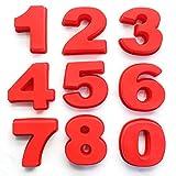 Zahlen Kuchenformen-Sets, 9-teilige Silikon-Backformen, Kuchenform-Backformen für Geburtstag, Hochzeit, Jubiläum