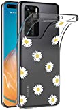 SUMIXON Hülle für Huawei P40 Pro, Dünne Transparent TPU Bumper Hülle Kompatibel mit Huawei P40 Pro, Kratzfest Weich Silikon Schutzhülle, Chrysanthemum