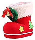 Seupeak 2 stücke rote Weihnachten Stiefel süßigkeiten Tasche Weihnachtsbaum Ornamente Container Taschen geschenkdekoration (Size : Large)