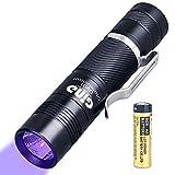 GING UV FLASHLIGHT LED-Taschenlampe, 395 nm, violettes Licht, zur Identifizierung von UV-Licht, AA-Batterie, für Kleber, Lampe – Skorpione, Haustierurin, Falschgeld, Harz etc. (UV01–395 nm)