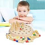 QKQB Memory Match Stick Schach Holz, Kinder Gedächtnis Schach Lernspielzeug Schachbrett Spielzeug Eltern-Kind-Interaktion Spielzeug
