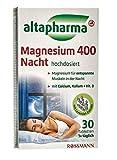 altapharma Magnesium 400 Nacht hochdosiert - Für entspannte Muskeln in der Nacht - 30 Tabletten