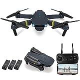 GAOFQ Faltbare Drohne mit 4k HD-Kamera, WLAN-FPV-Live-Video, 3D-Flips, Headless-Modus, Start/Landung mit Einer Taste, RC-Quadcopter mit Kamera für Erwachsene, Kinder (3-teilige Batterien)