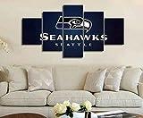 YHJMLFN Wandbilder Wohnzimmer- Rahmen NFL Seattle 5 Seahawks Sports HD Gemälde Wandtattoo Home Decoration,100x50cm 39.4x19.7inch