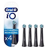 Oral-B iO Black Ultimative Reinigung Aufsteckbürsten für ein sensationelles Mundgefühl, Briefkastenfähige Verpackung, 4 Stück