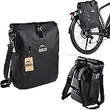 Borgen Fahrradtasche für Gepäckträger 3in1 Fahrrad Rucksack I Gepäckträgertasche I Umhängetasche - 18L Kombi Fahrrad Tasche - 100% wasserdicht und reflektierend mit herausnehmbarer Laptoptasche