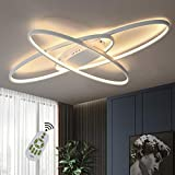 GBLY LED Dimmbar Deckenleuchte Modern Weiß Wohnzimmerlampe Warmweiß/Neutralweiß/Kaltweiß 75W Innen Dekorative Deckenbeleuchtung für Wohnzimmer, Schlafzimmer, Küche und Büro