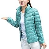 YOUCAI Damen Jacke Steppjacke Übergangsjacke Leichte Daunenjacke Winterjacke Mantel Gesteppt Pufferjacke,Pink Blau,5XL