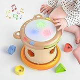 TUMAMA Baby Musik Spielzeug,Baby Trommel mit Licht und Sound,Musikwürfel Spielzeug Musikinstrumente für Kinder,Elektronische Sensoris Spielzeug Geschenk für Babies