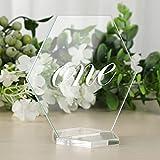 25 Stück klare Acryl Tischkarten Hochzeit Sechseck Acryl Sitzkarten Namenskarten DIY Tischkarte für Hochzeit Party Dekoration
