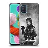 Offizielle AMC The Walking Dead Daryl Doppelte Aussetzung Soft Gel Handyhülle Hülle Huelle kompatibel mit Samsung Galaxy A51 (2019)