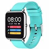 TONG Smart Uhren der Männer und der Frauen, Sportuhren für Android und iOS, Herzfrequenzmonitore, IP67 wasserdichte Uhren mit Kalorien, Schritten, Schlafrakenden. Blue
