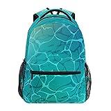 Laptop-Rucksack für Jungen, mit türkisfarbenem Wasser, Sonnenblendung, Schule, Büchertaschen, Computertagsrucksack für Reisen, Wandern, Camping