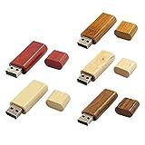 Yaxiny 5 Farben Holz USB 2.0 USB 3.0 5 Stück USB Flash Drive USB Disk Memory Stick (2.0/64GB)