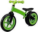 Kinderfahrrad Kinderlaufrad für Mädchen und Jungen ab 2 Jahren (12 Zoll), ein Kinderfahrrad mit Rücktrittbremse blau-grün