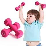 FutureCharger Hantel Gewichte, 1,4 kg Handgewichte Hanteln Set von 2, freie Gewichte Fitness Hantel, Neopren Hanteln für Home Gym Übungen, Frauen/Männer Kraftgewichtstraining, Muskelaufb