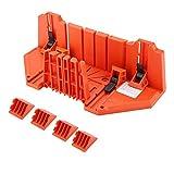 Ejoyous Kunststoff Gehrungskasten Beschneidungssäge Holzschneiden Handsäge Hardware-Werkzeug 14 Zoll mit Klemme