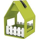 Emsa 514491 Landhaus Vogelwelt Futterhaus und Vogelbad, geeignet für Kleinsingvögel, Ganzjahresnutzung, Made in Germany, grün