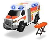 Dickie Toys 203306002 Medical Responder, Rettungswagen, Spielzeugauto inkl. Trage, Heckklappe zum Öffnen, Licht & Sound, inkl. Batterien, 30 cm groß, ab 3 Jahren
