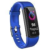 Fitness Armband Mit Blutdruckmessung Smartwatch Fitness Tracker Mit Pulsmesser Wasserdicht IP68 Fitness Messgeräte Pulsuhr Schrittzähler Uhr Für Damen Herren,Blau