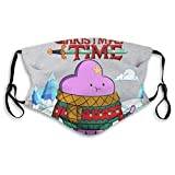 CDKZ Mundbedeckung Face Cover Adventure Christmas Time Lumpy Space Princess Ice World Cartoon Network Unisex Mouth Muffle Face Scarf Mouth Scarf