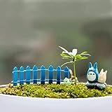 Gartengeräte Mini Kleine Zaun Barriere Holz Handwerk Holz Kleine Zaun Moos Micro-Landschaft Ornamente Multi-Fleisch Bonsai Pflanze Dekoration Zufällige Farbe Lieferung für Gartenarbeit im Freien und I