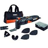 WORX WX679 Sonicrafter Multifunktionswerkzeug 250 W – Schneiden, Schleifen, Sägen, Schaben uvm. mit nur einem Gerät – Schneller Zubehörwechsel