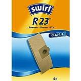 Swirl R 23 Spezialpapier Staubsaugerbeutel für Rowenta, Bosch, Kärcher und Siemens Staubsauger, Classic, 4 Stück