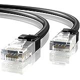Mr. Tronic 5m Ethernet Netzwerk Netzwerkkabel | Patchkabel | CAT6, AWG24, CCA, UTP, RJ45 (5 Meter, Schwarz)