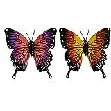 TongICheng 2st Garten-Wand-Kunst-außenzaun Hängend, Metall-skulptur-fertigkeit-Dekoration Für Küche, Outdoor, Zaun, Garten, Hof, 3D Kleine Fliege Insekt Bunt