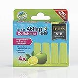 ABFLUSS-FEE 4er Nachfüll-Set für Abflussfee Waschbeckenstöpsel | Reinigungssteine für Abflüsse jeder Art, Abflussreiniger | inkl. Frische Duft [Apfel Aroma, grün]